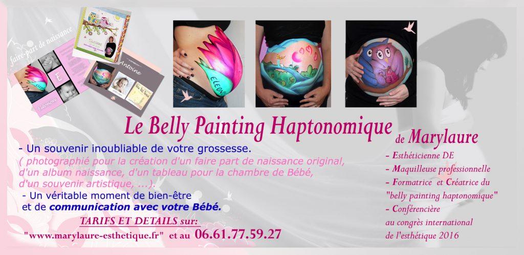 Plaquette Belly Painting Haptonomique de Marylaure Esthétique